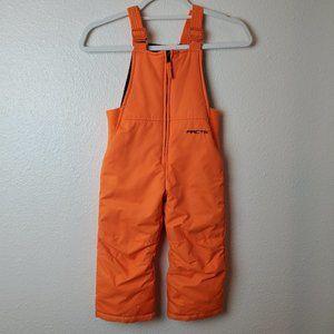 ARCTIX Toddler 3T Orange Zip Snow Bib Suit